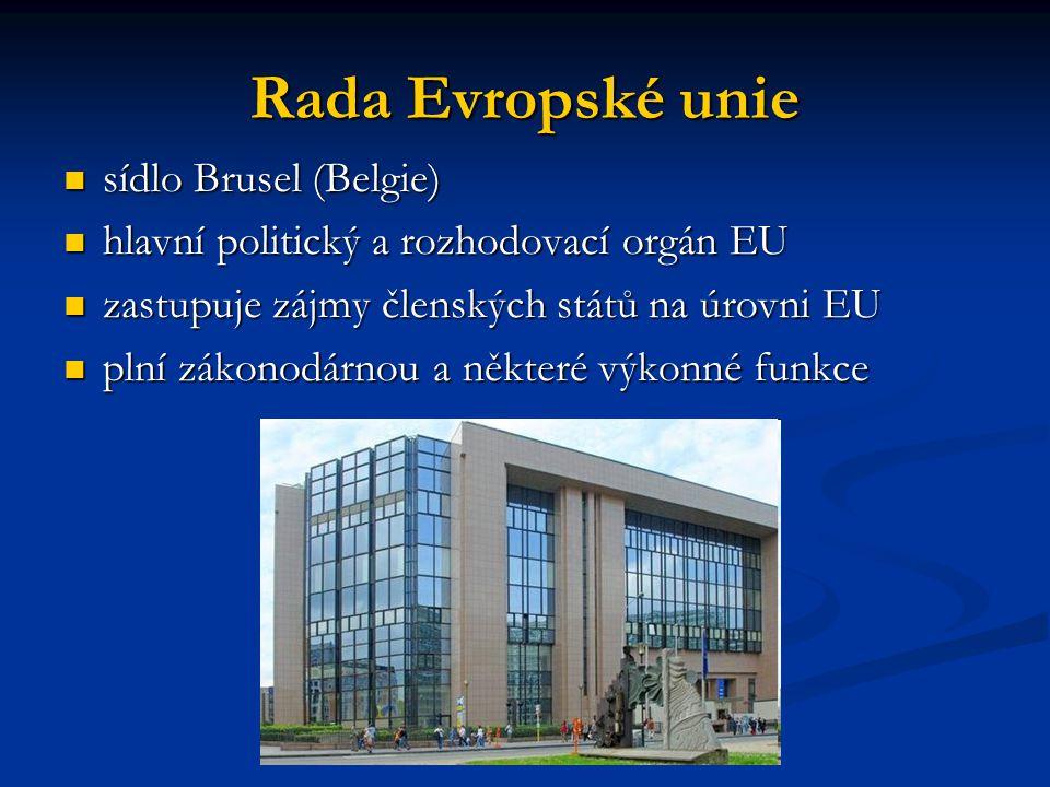 Rada Evropské unie sídlo Brusel (Belgie)