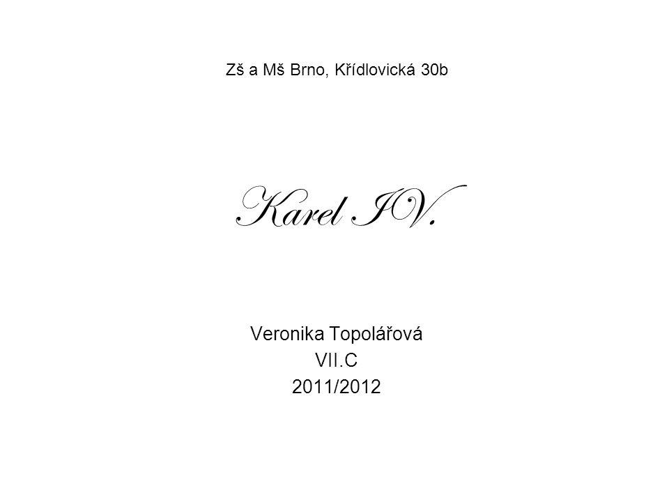 Zš a Mš Brno, Křídlovická 30b Veronika Topolářová VII.C 2011/2012