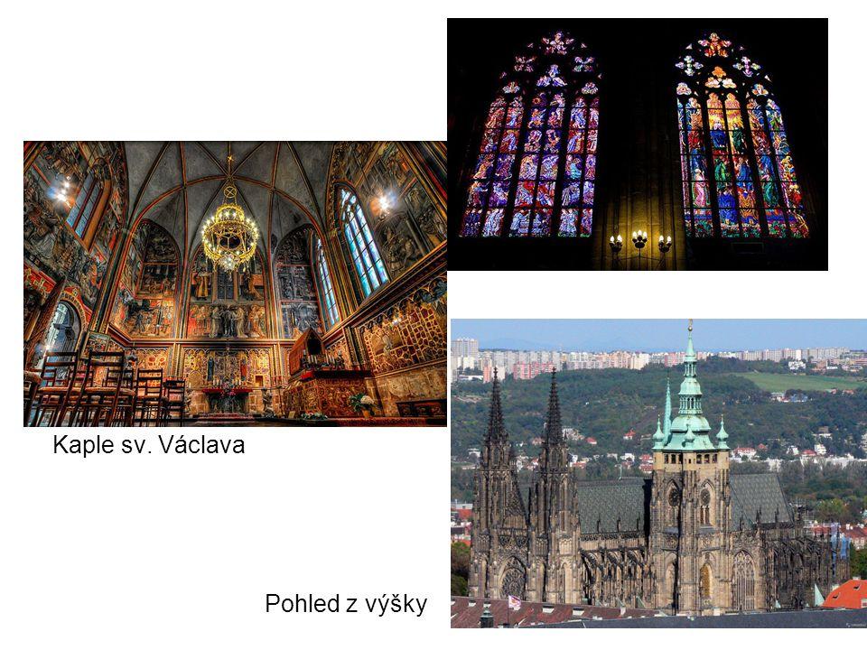 Kaple sv. Václava Pohled z výšky