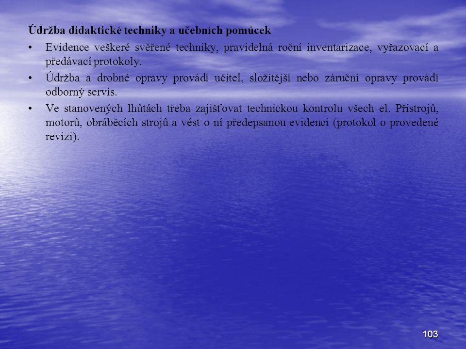 Údržba didaktické techniky a učebních pomůcek