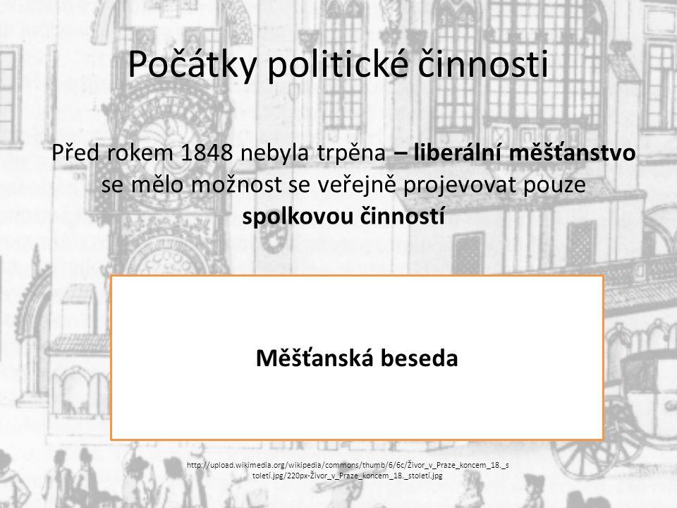 Počátky politické činnosti