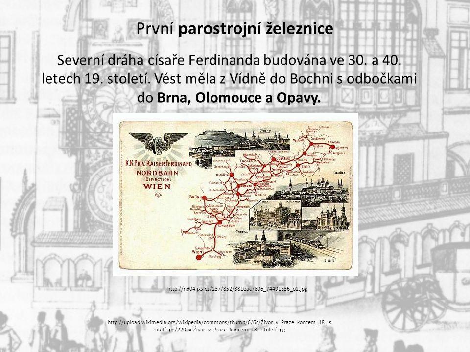 První parostrojní železnice
