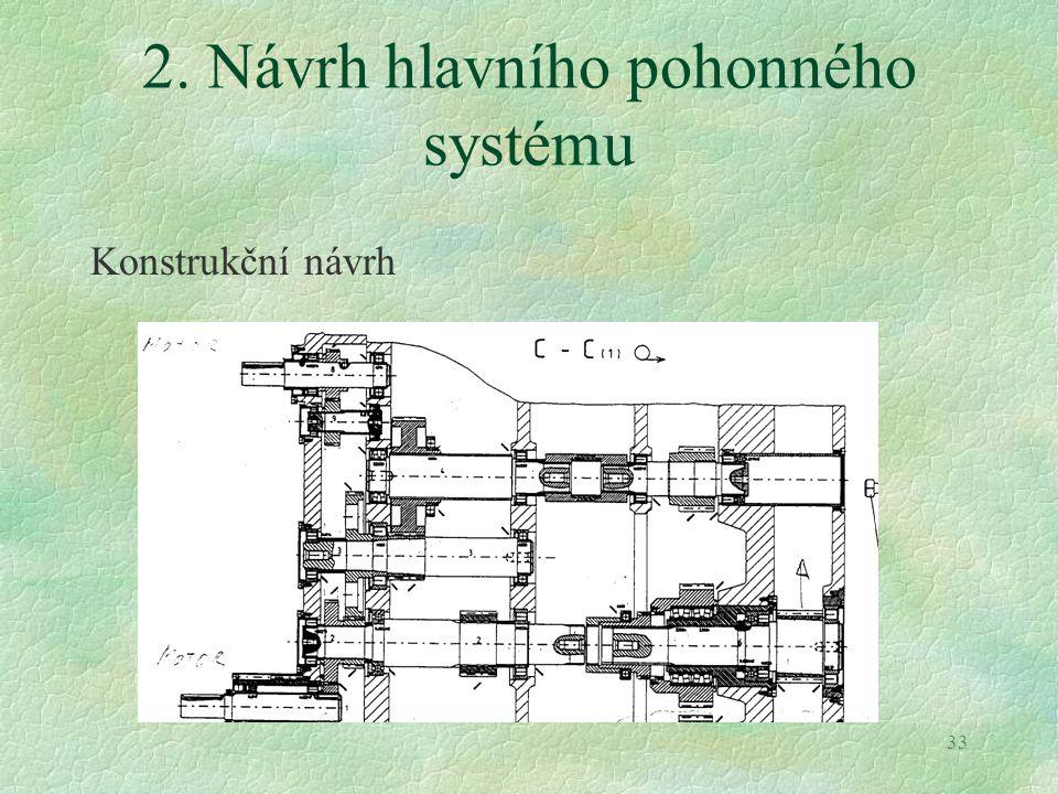 2. Návrh hlavního pohonného systému