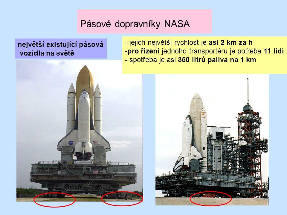 Pásové dopravníky NASA