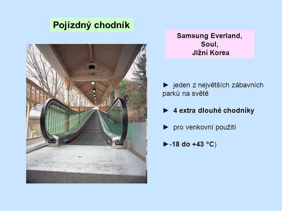 Pojízdný chodník Samsung Everland, Soul, Jižní Korea