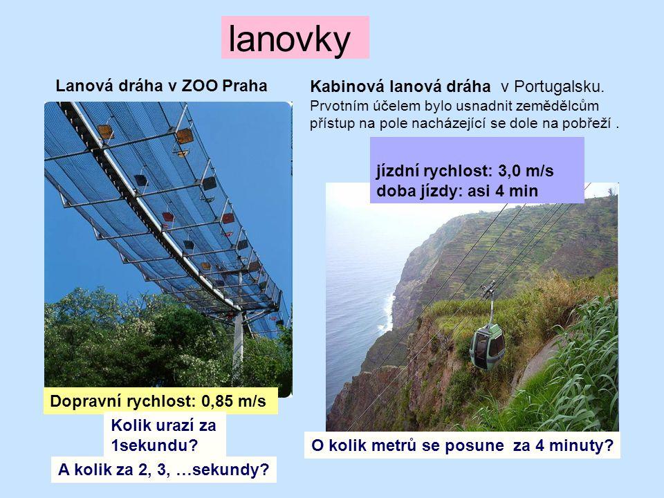 lanovky Lanová dráha v ZOO Praha Kabinová lanová dráha v Portugalsku.