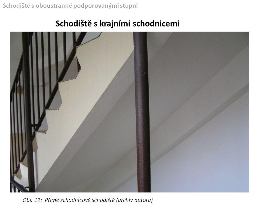 Schodiště s krajními schodnicemi