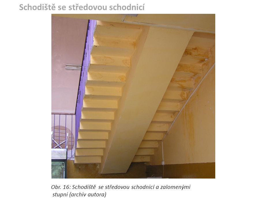 Schodiště se středovou schodnicí