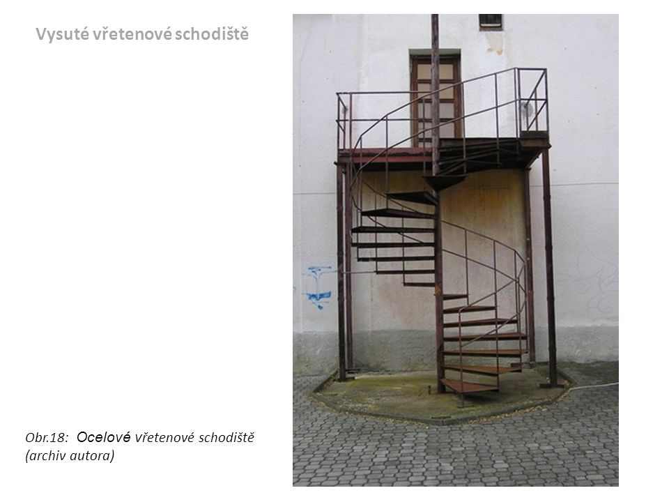 Vysuté vřetenové schodiště
