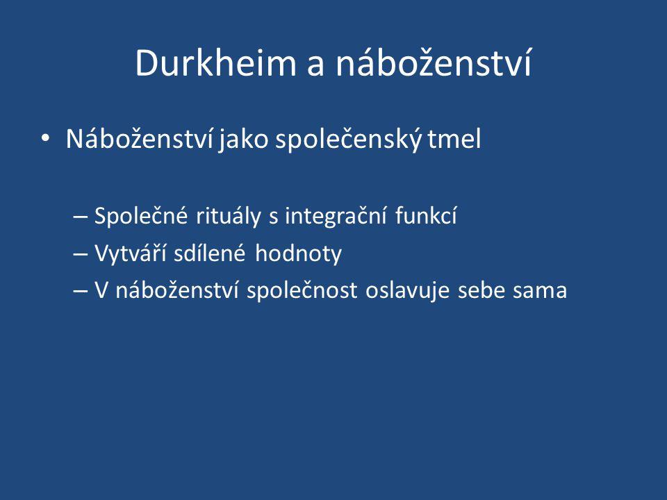 Durkheim a náboženství