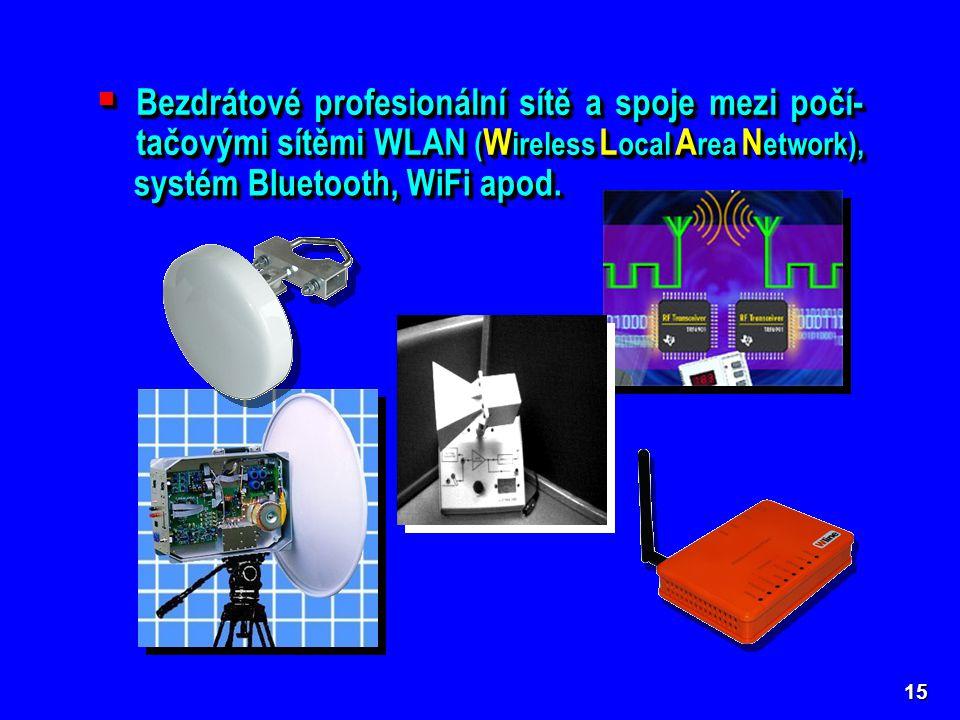 systém Bluetooth, WiFi apod.