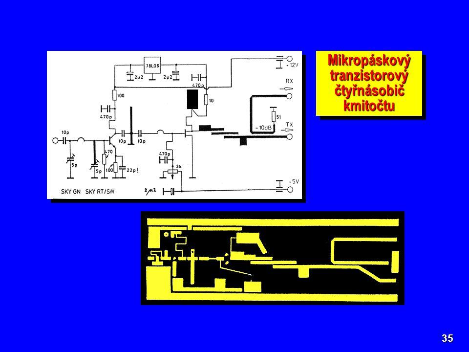 Mikropáskový tranzistorový čtyřnásobič kmitočtu