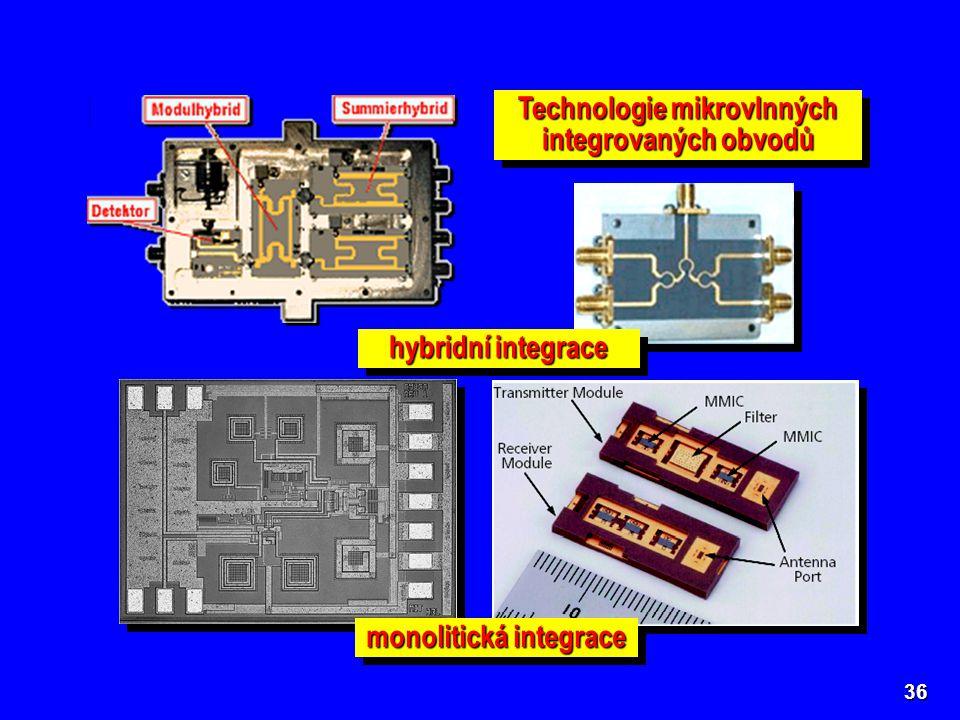 Technologie mikrovlnných integrovaných obvodů monolitická integrace