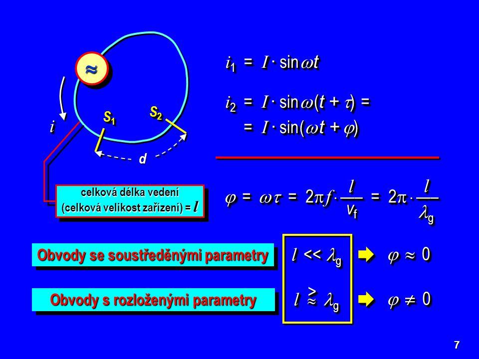    i1 = I · sin  t i2 = I · sin  (t + ) = = I · sin ( t + ) i