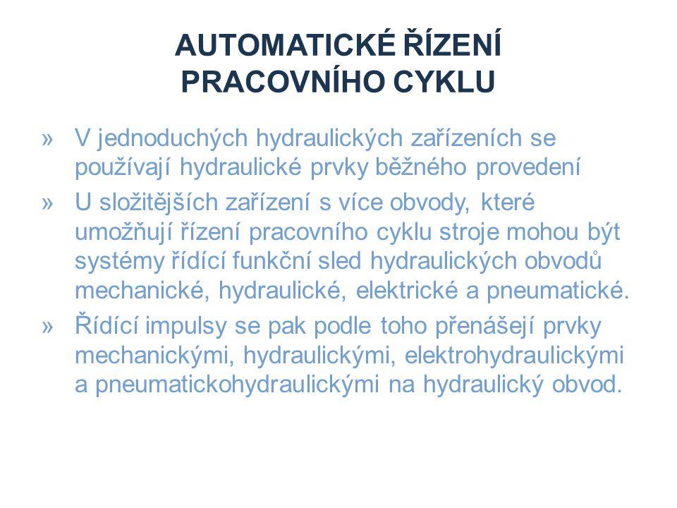 Automatické řízení pracovního cyklu