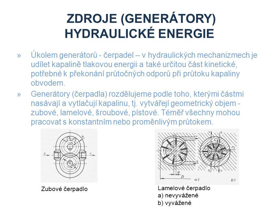 Zdroje (generátory) hydraulické energie