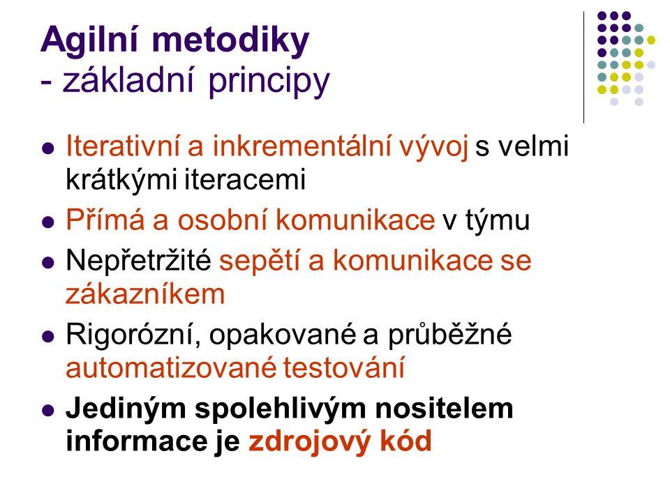 Agilní metodiky - základní principy