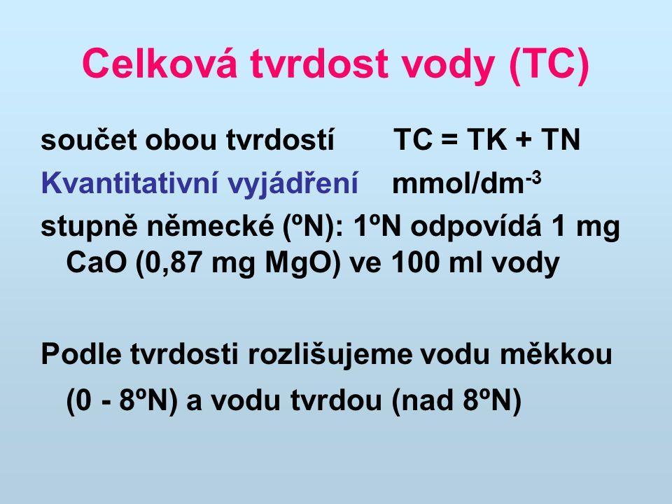 Celková tvrdost vody (TC)