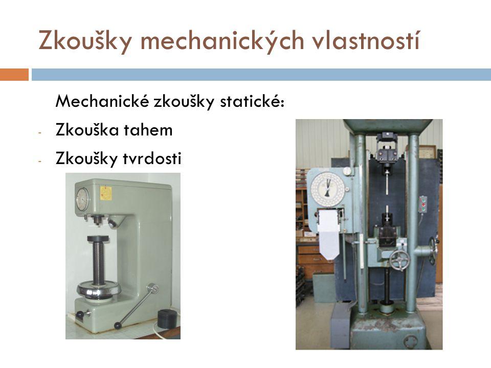 Zkoušky mechanických vlastností