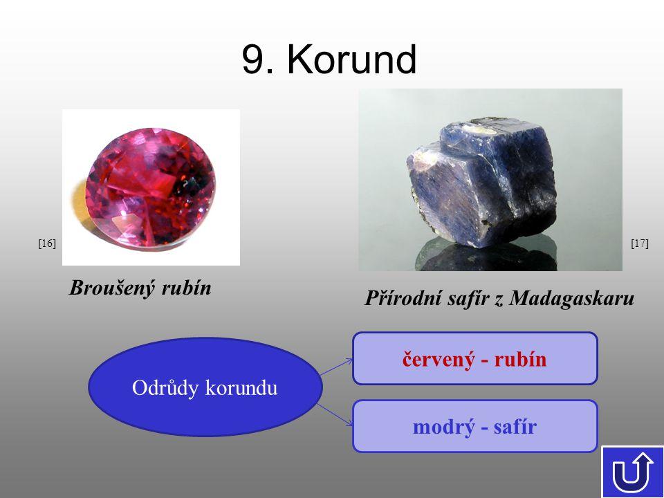 9. Korund Broušený rubín Přírodní safír z Madagaskaru červený - rubín