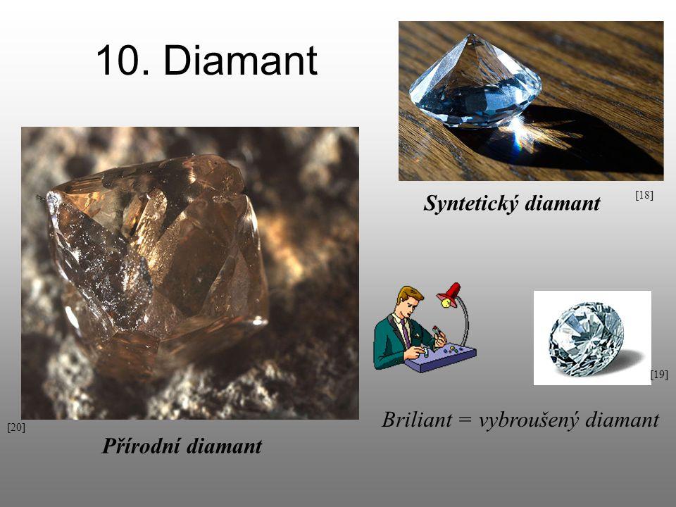 10. Diamant Syntetický diamant Briliant = vybroušený diamant