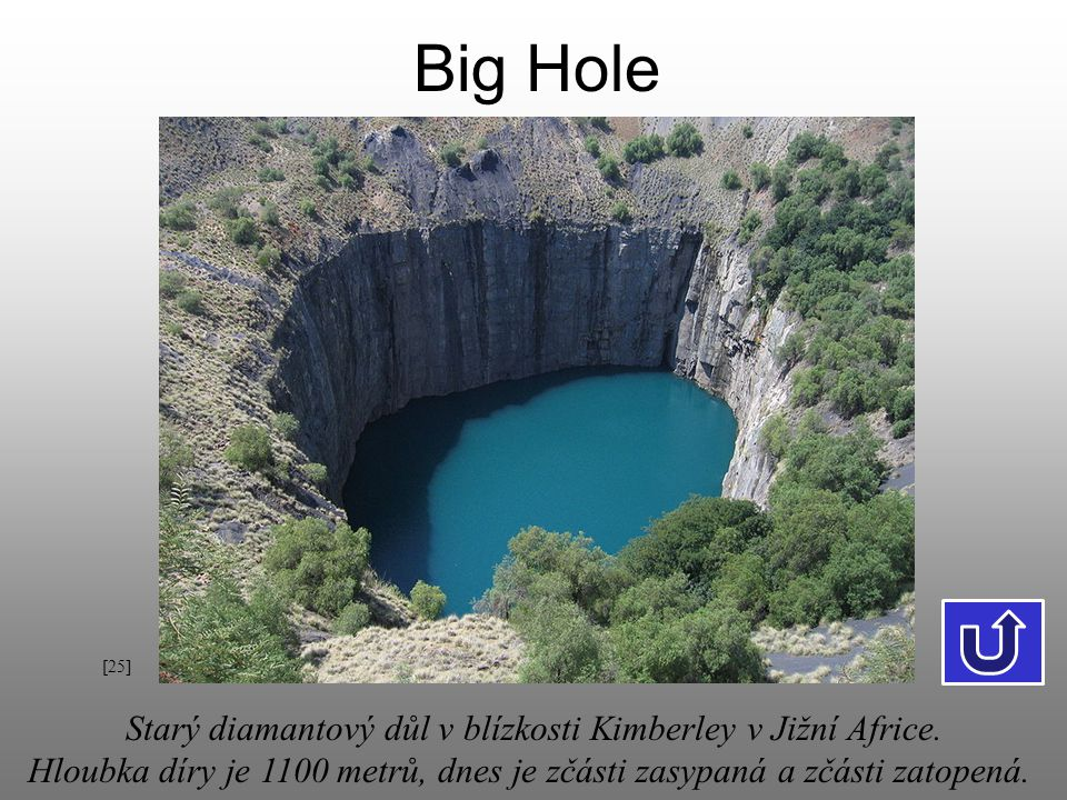 Big Hole Starý diamantový důl v blízkosti Kimberley v Jižní Africe.