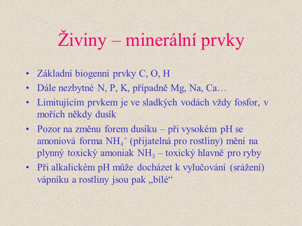 Živiny – minerální prvky