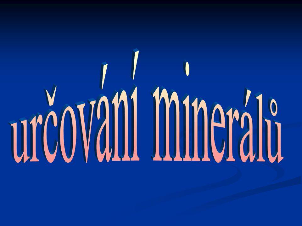 určování minerálů