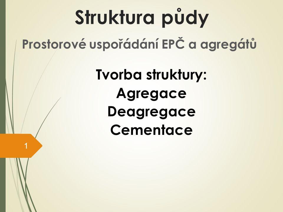 Prostorové uspořádání EPČ a agregátů