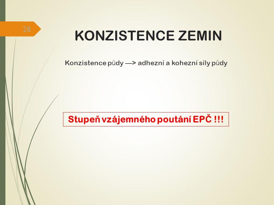 Stupeň vzájemného poutání EPČ !!!