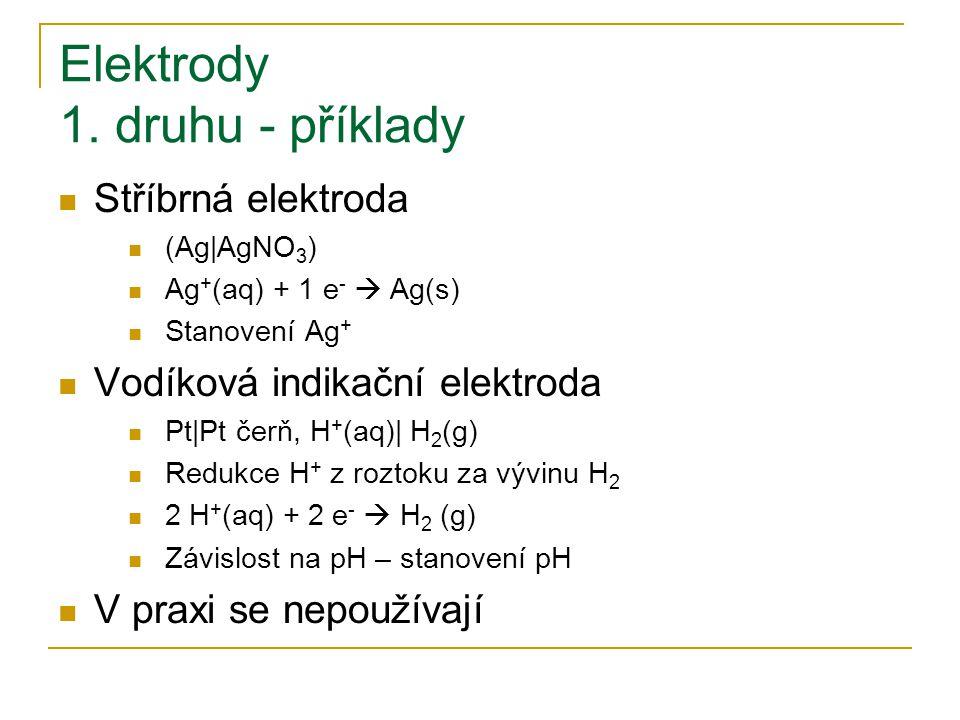 Elektrody 1. druhu - příklady