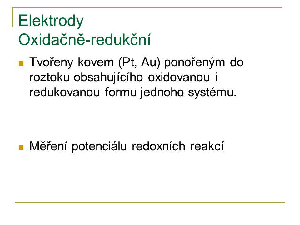 Elektrody Oxidačně-redukční
