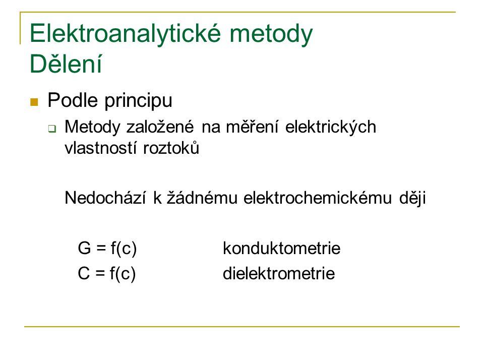 Elektroanalytické metody Dělení