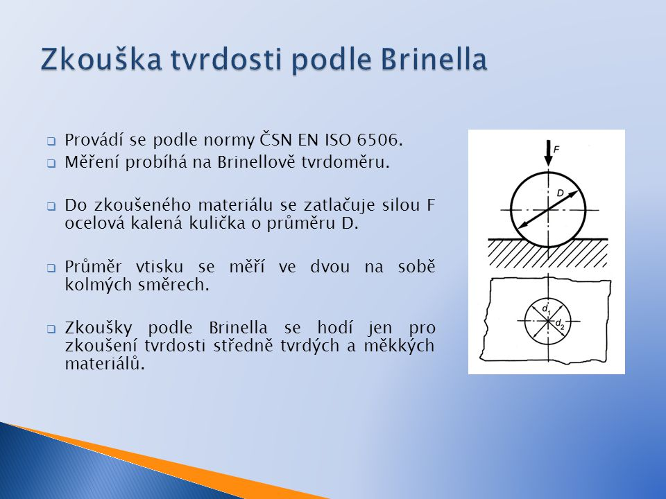 Zkouška tvrdosti podle Brinella