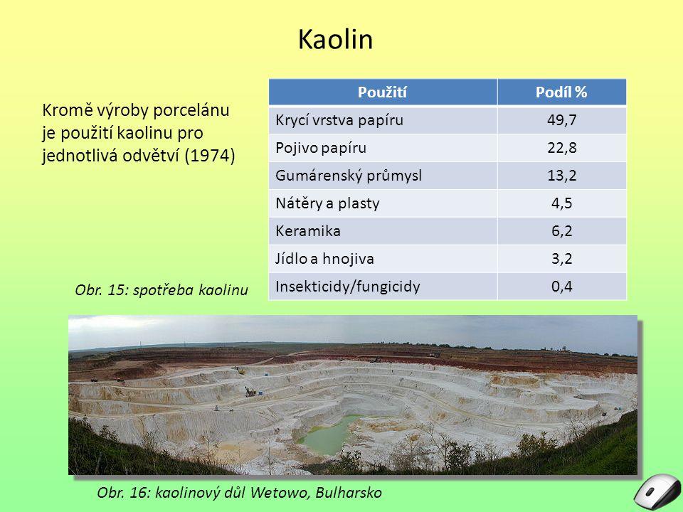 Obr. 16: kaolinový důl Wetowo, Bulharsko