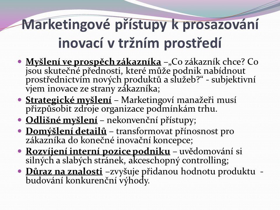 Marketingové přístupy k prosazování inovací v tržním prostředí