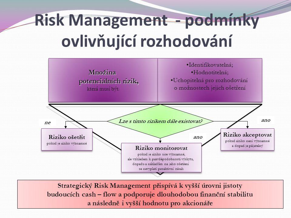 Risk Management - podmínky ovlivňující rozhodování