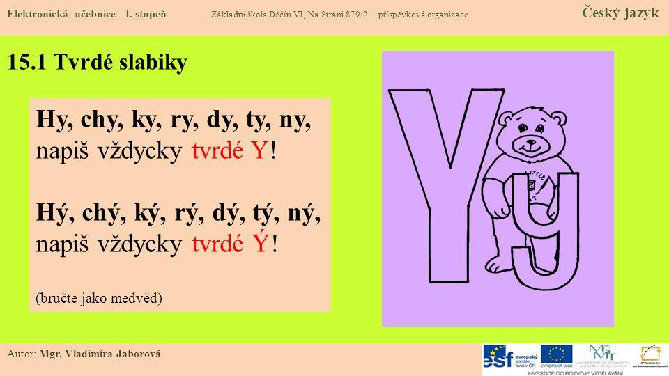 Hy, chy, ky, ry, dy, ty, ny, napiš vždycky tvrdé Y!