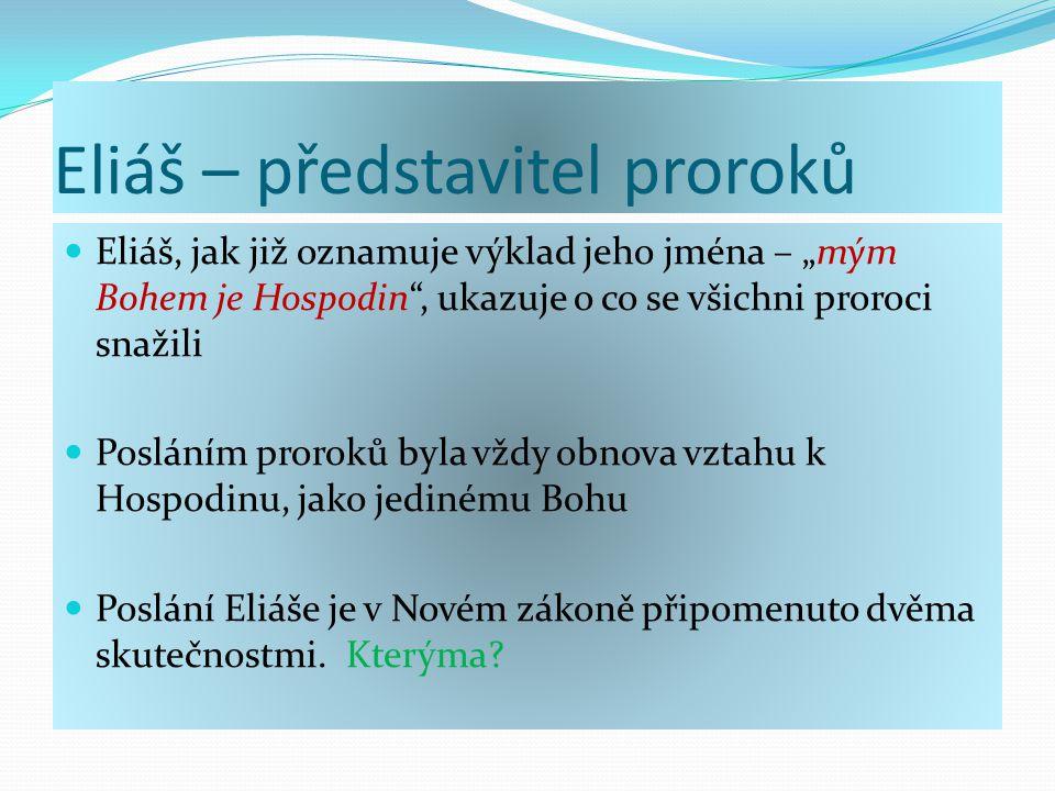 Eliáš – představitel proroků