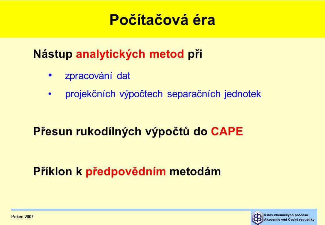 Počítačová éra Nástup analytických metod při zpracování dat