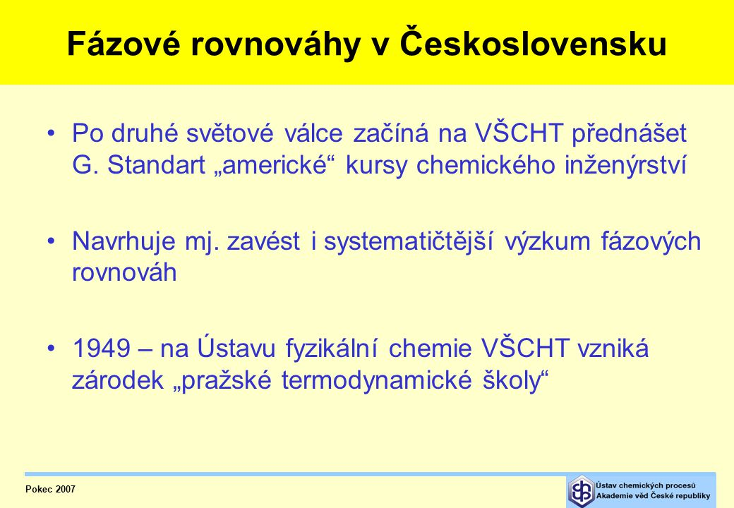 Fázové rovnováhy v Československu