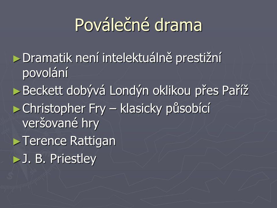 Poválečné drama Dramatik není intelektuálně prestižní povolání