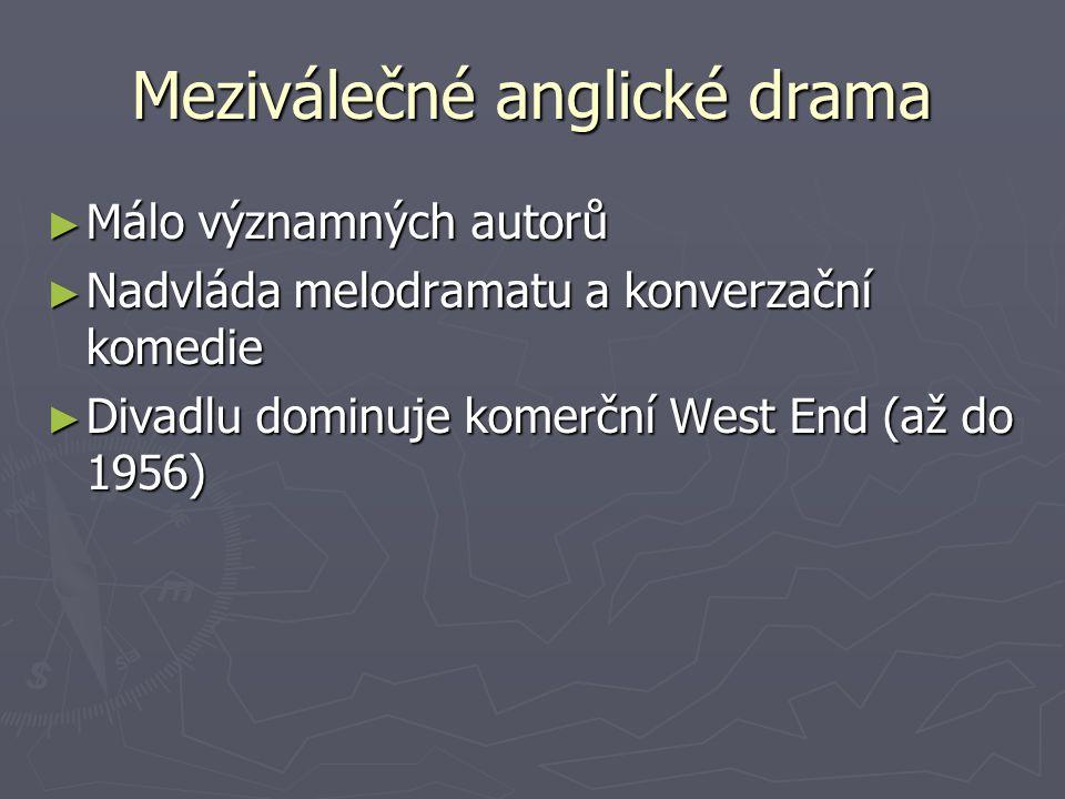 Meziválečné anglické drama
