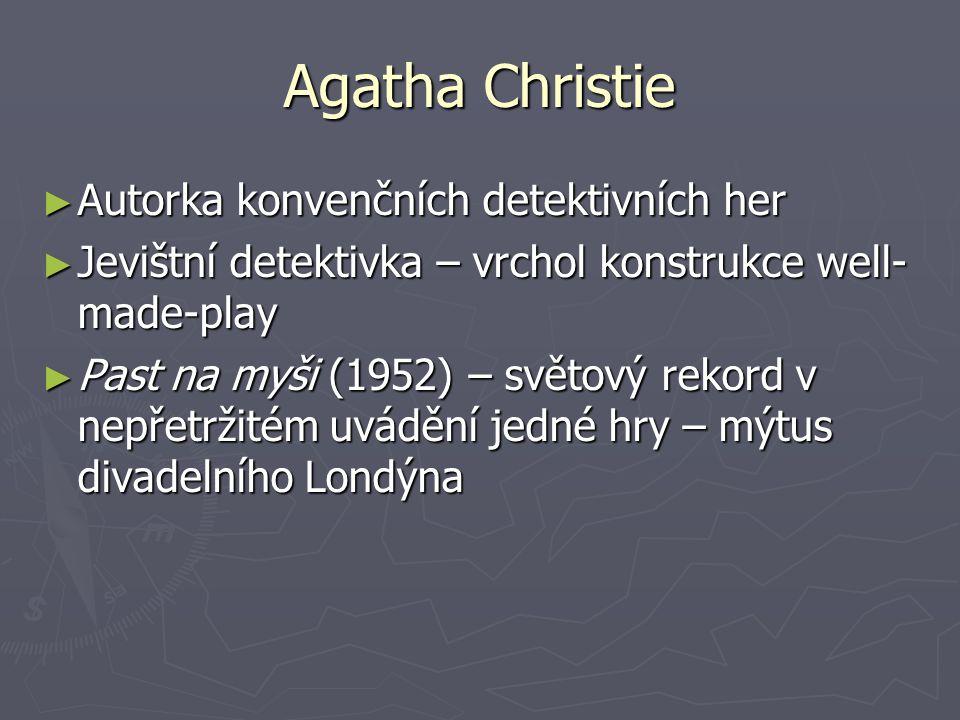 Agatha Christie Autorka konvenčních detektivních her