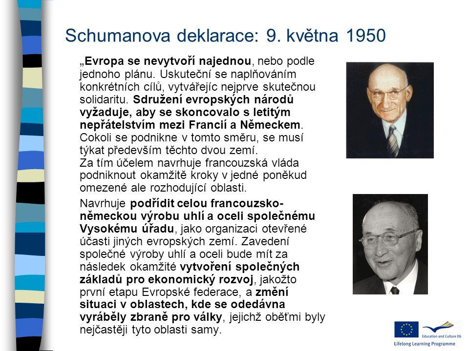 Schumanova deklarace: 9. května 1950