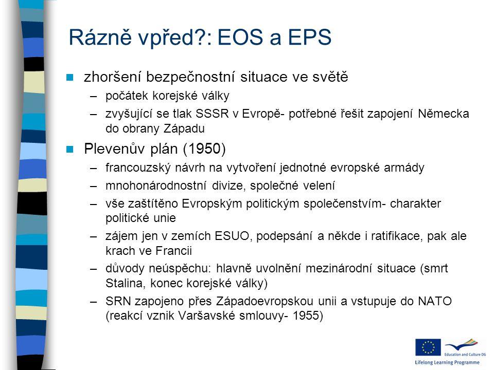 Rázně vpřed : EOS a EPS zhoršení bezpečnostní situace ve světě