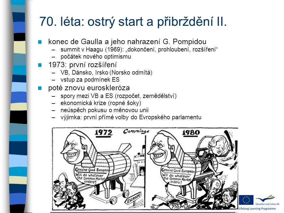 70. léta: ostrý start a přibrždění II.