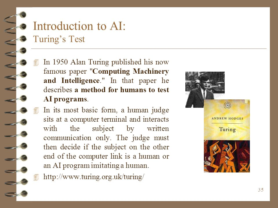 Introduction to AI: Turing's Test