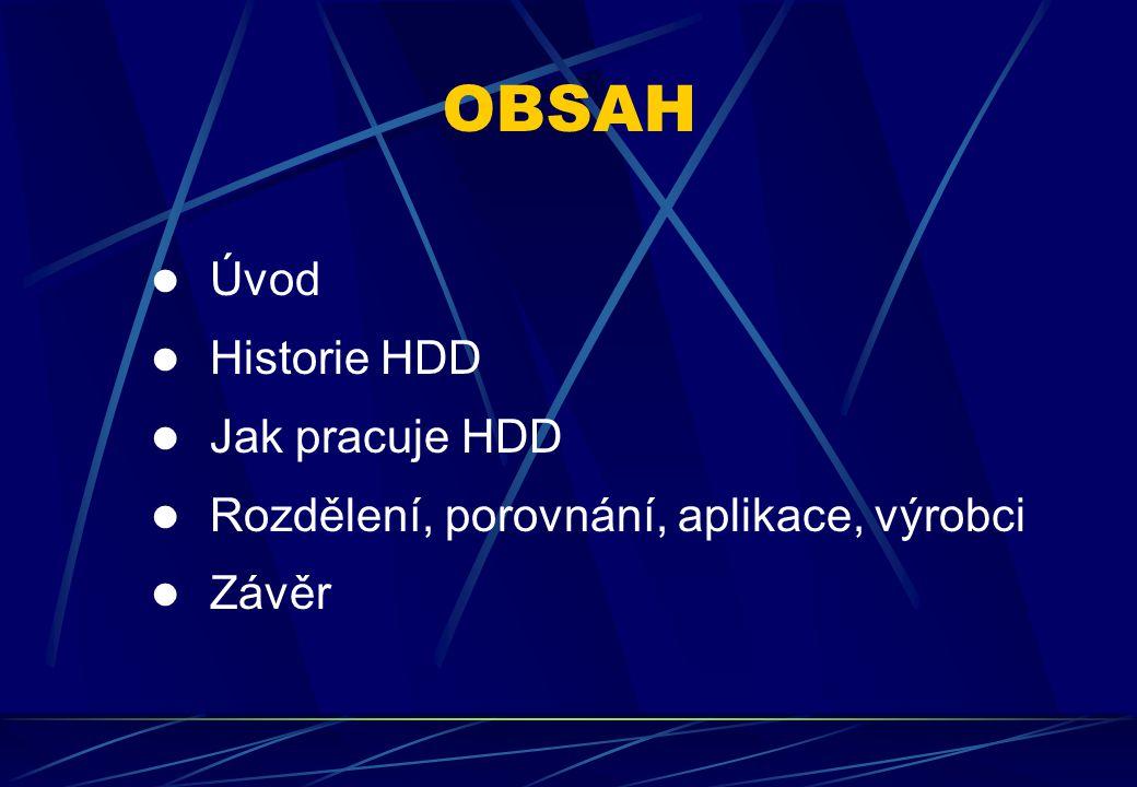 OBSAH Úvod Historie HDD Jak pracuje HDD