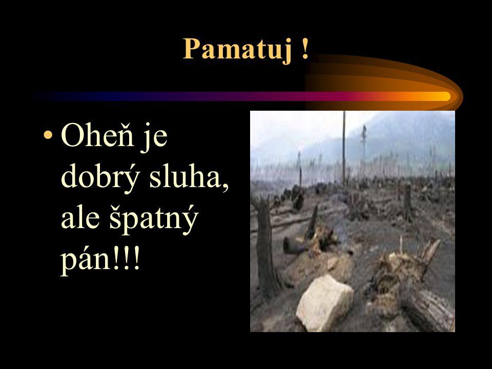 Oheň je dobrý sluha, ale špatný pán!!!